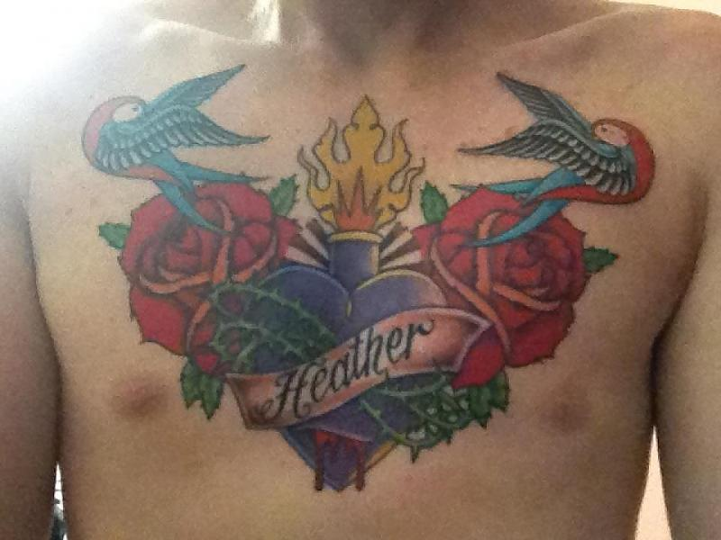 coloured chest piece