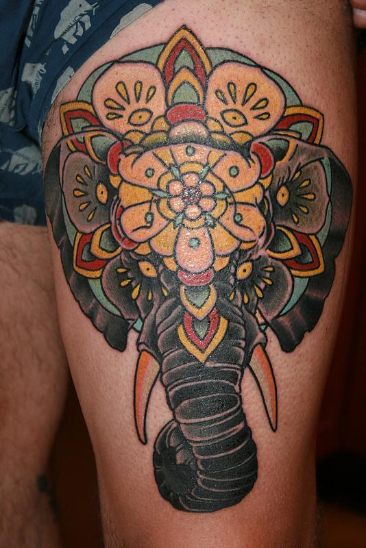 Elephant head mandala from Seth Wood