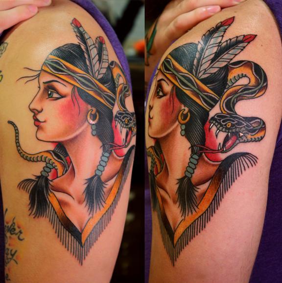 Native Snake Girl