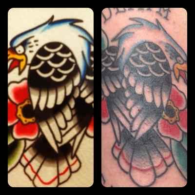 eagle painting and tattoo