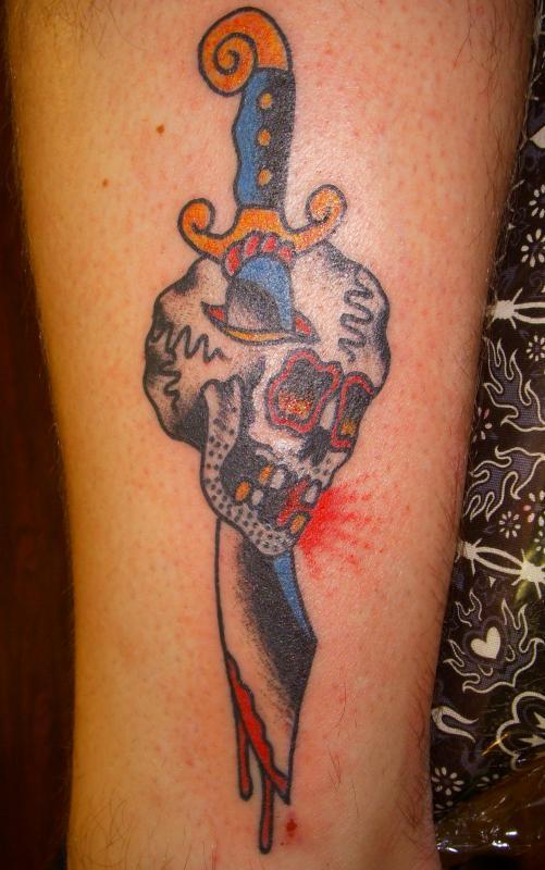 sword in a skull