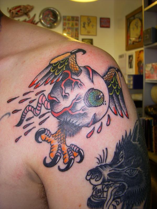 eyeball with wings