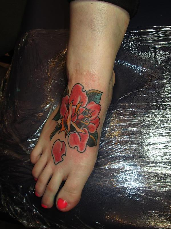 rose on the foot