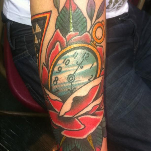 Pocketwatch and Rose