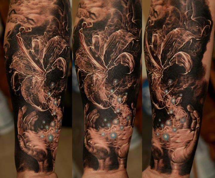 Dmitriy Samohin full sleeve and thigh piece