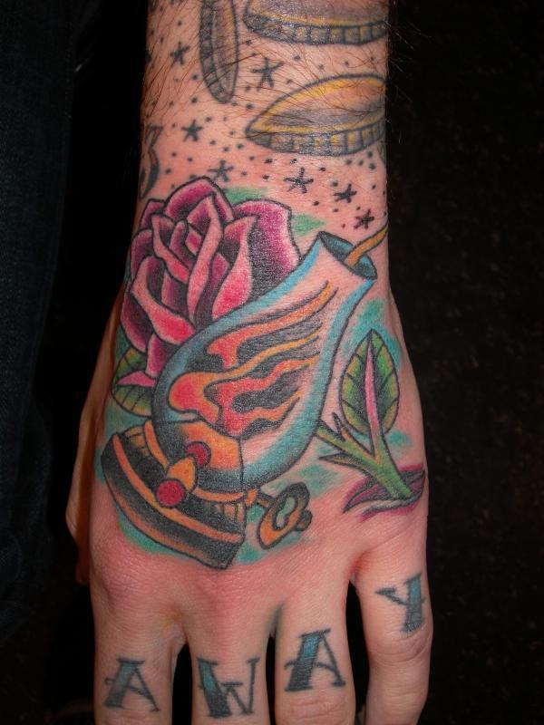 lantern and rose
