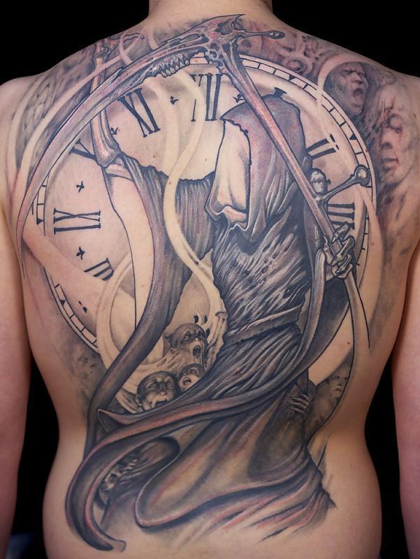 Grim Reaper with Clock