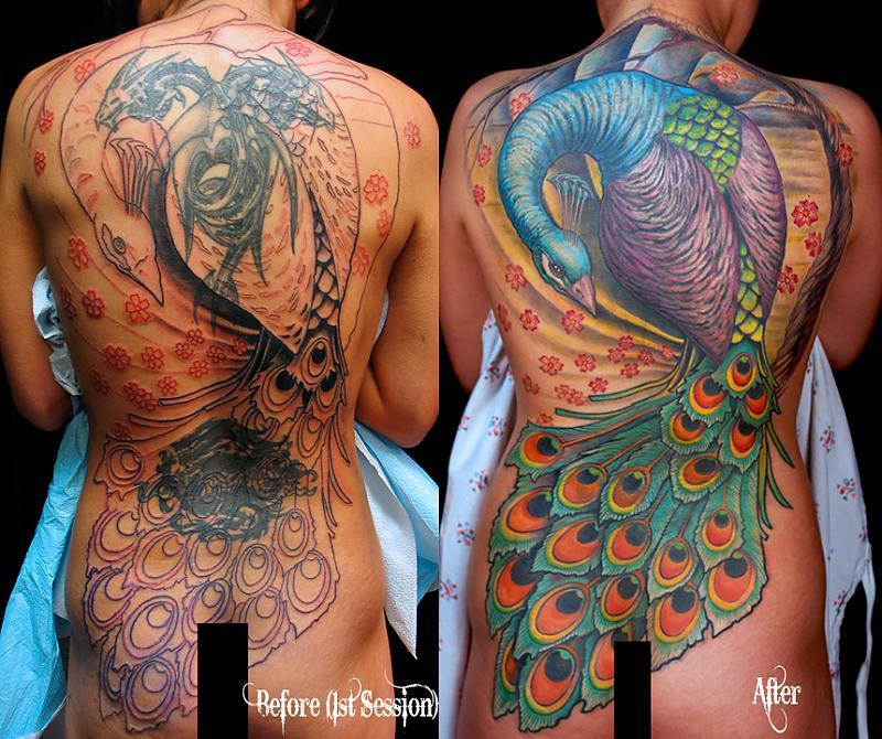 Peacock Backpiece