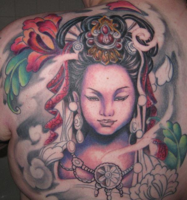 Guan Yin in progress