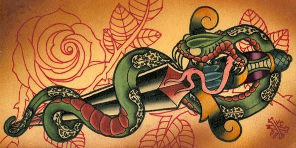 snake dagger painting