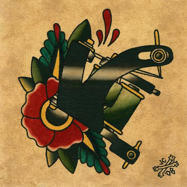 tattoo machine painting