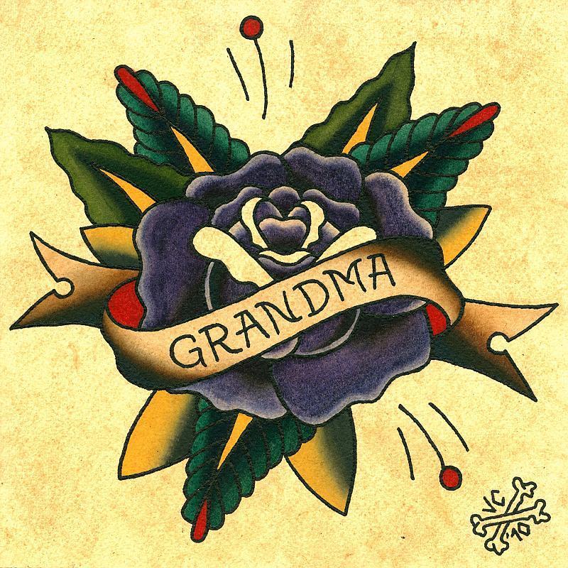 grandma painting