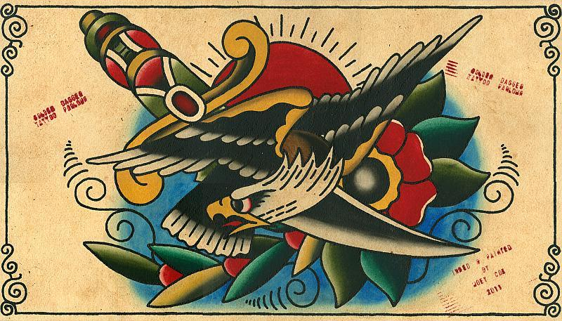 eagle dagger painting
