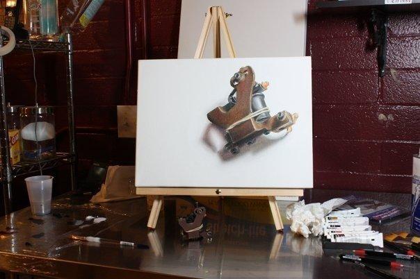 Seth liner painting