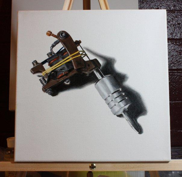 Seth machine painting
