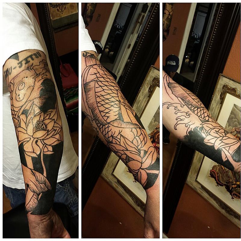start of a sleeve