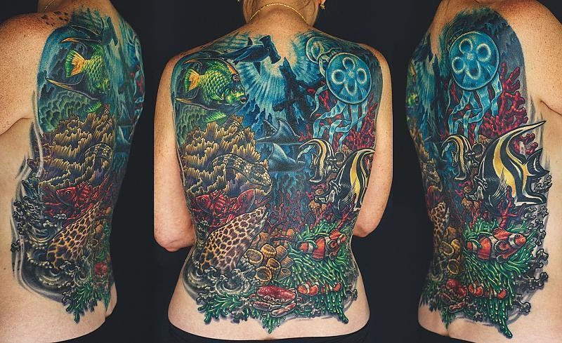 Sea Scene tattoo