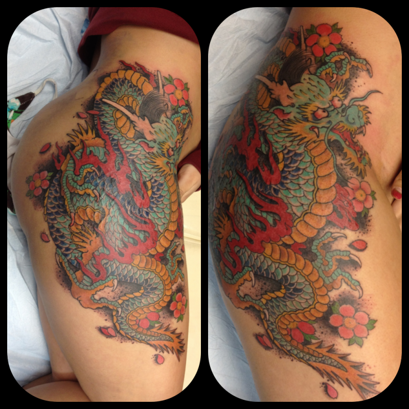 dragon on thigh