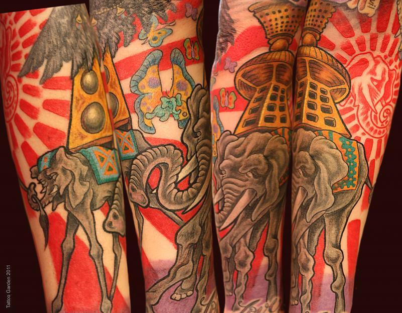 Color elephant sleeve