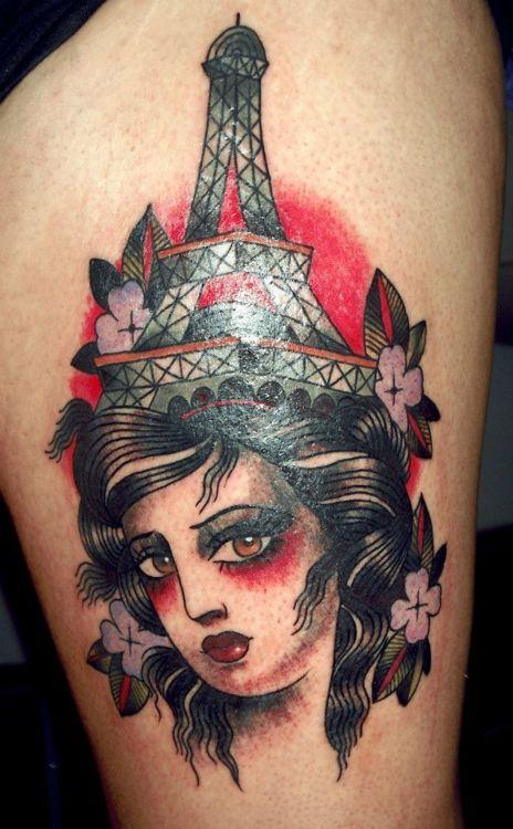 Eiffel Tower Lady Head
