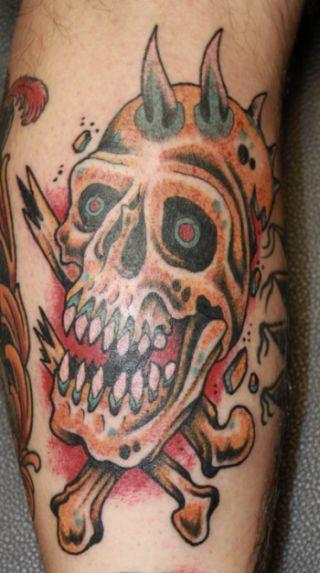 no stencil no marker skull