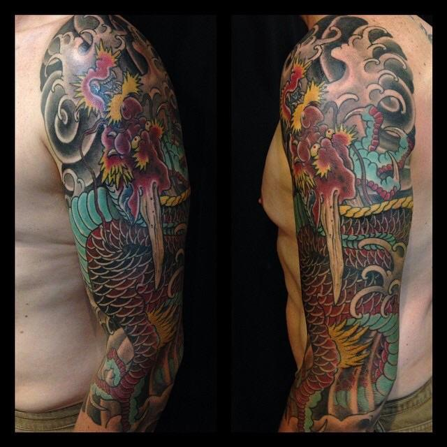 Japanese dragon 3/4 sleeve