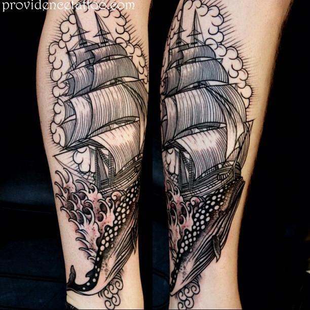 Ship & Whale