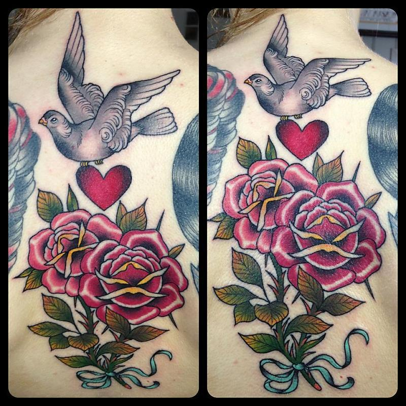 roses and dove