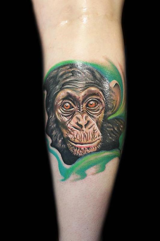 Chimpanzee tattoo