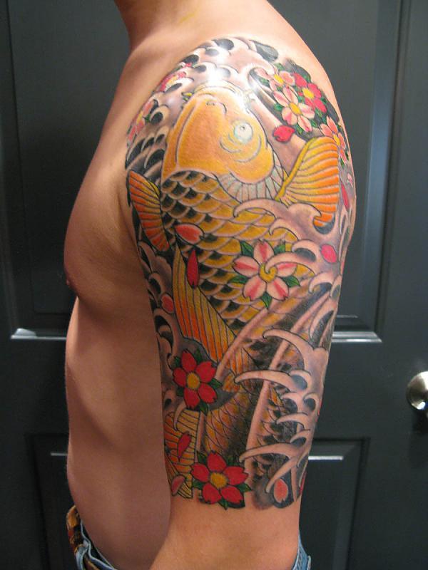 Half Sleeve Koi by Henning