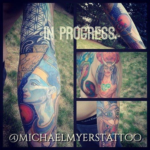 another egyptian sleeve in progress