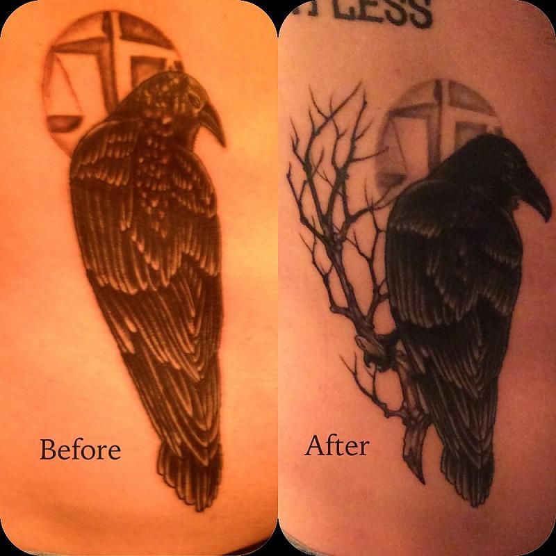 Raven before after