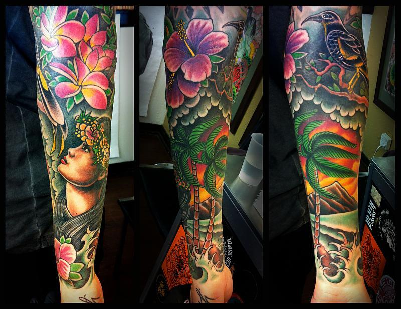 hawaiian sleeve