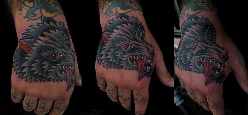 wolf hand