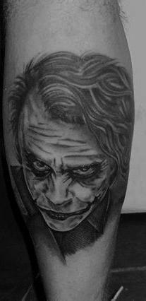 Joker by Peter Tyas of Glory Bound Tattoo UK