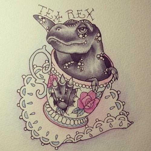 Tea Rex by Lady Gabe