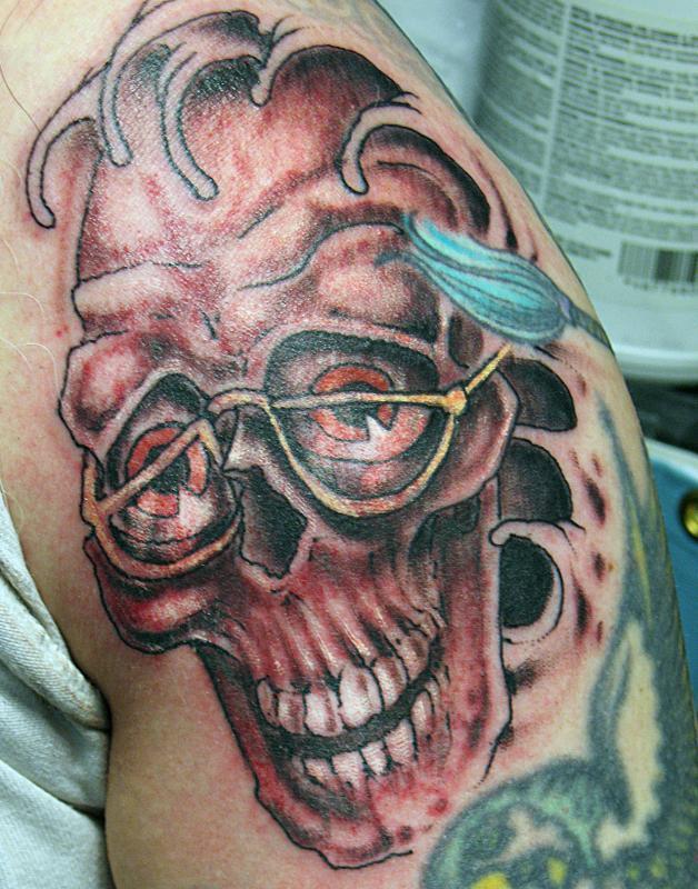 old man skull
