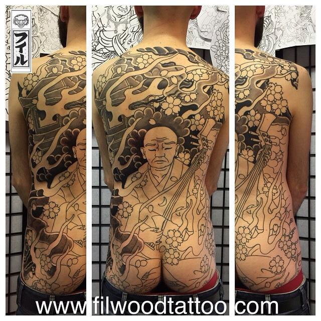 Hoich The Earless back piece third session