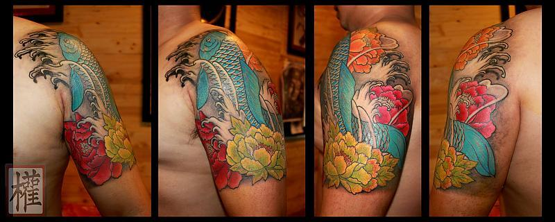 Koi&Flower Tattoo