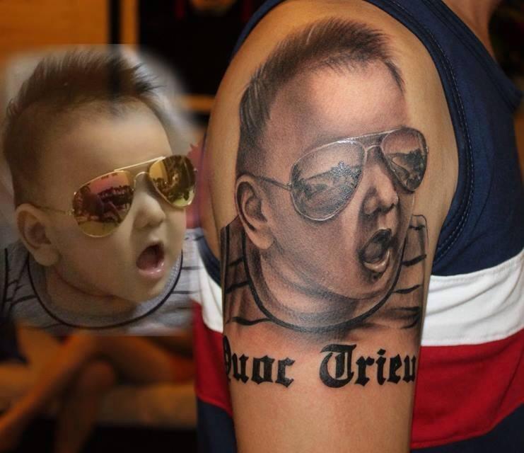 baby tattoo portrait !