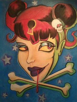 New skool vamp girl
