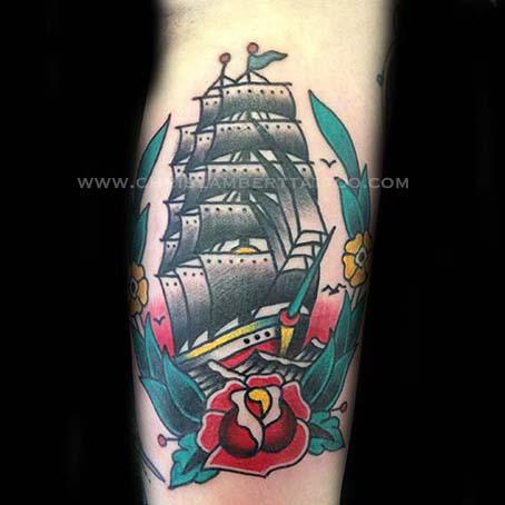 Ship Tattoo Chris Lambert