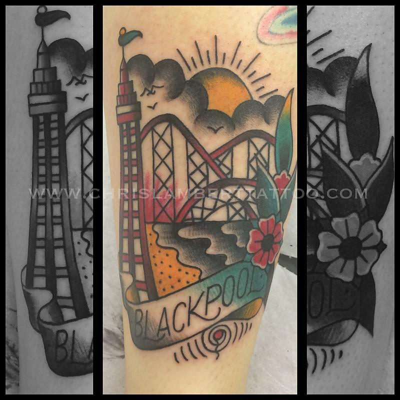 Blackpool tattoo by Chris Lambert