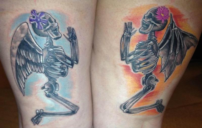 Praying Skeletons