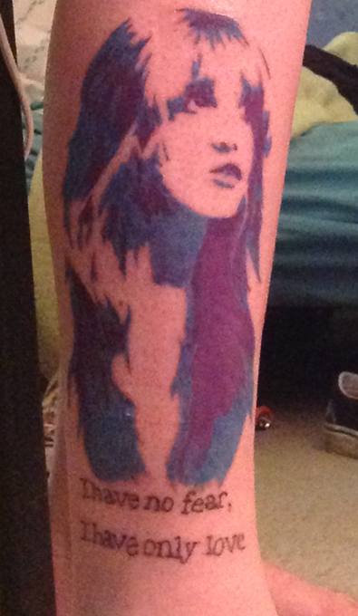 Stevie Nicks Portrait and Fleetwood Mac Gypsy Quote