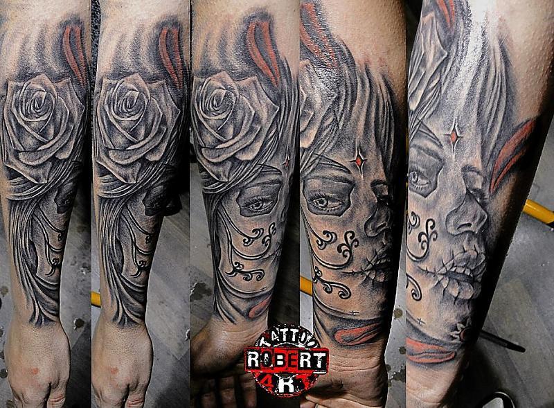 dias los muertos robert tattoo art