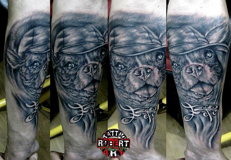 dog portrait 1 robert tattoo art