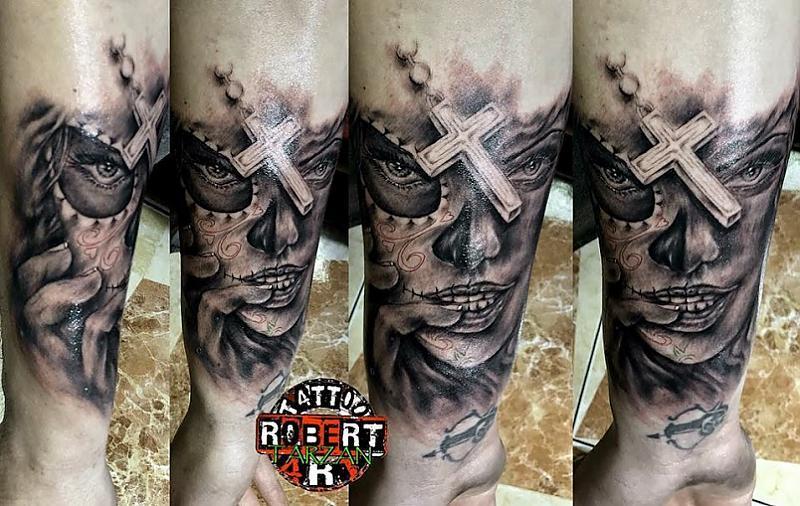 dias los muertos in progress fresh robert tattoo art