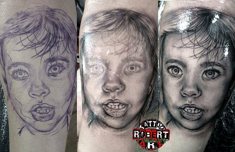 portrait stages robert tattoo art