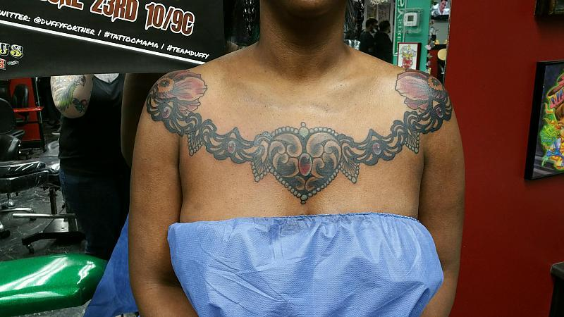 Front Collar Tattoo